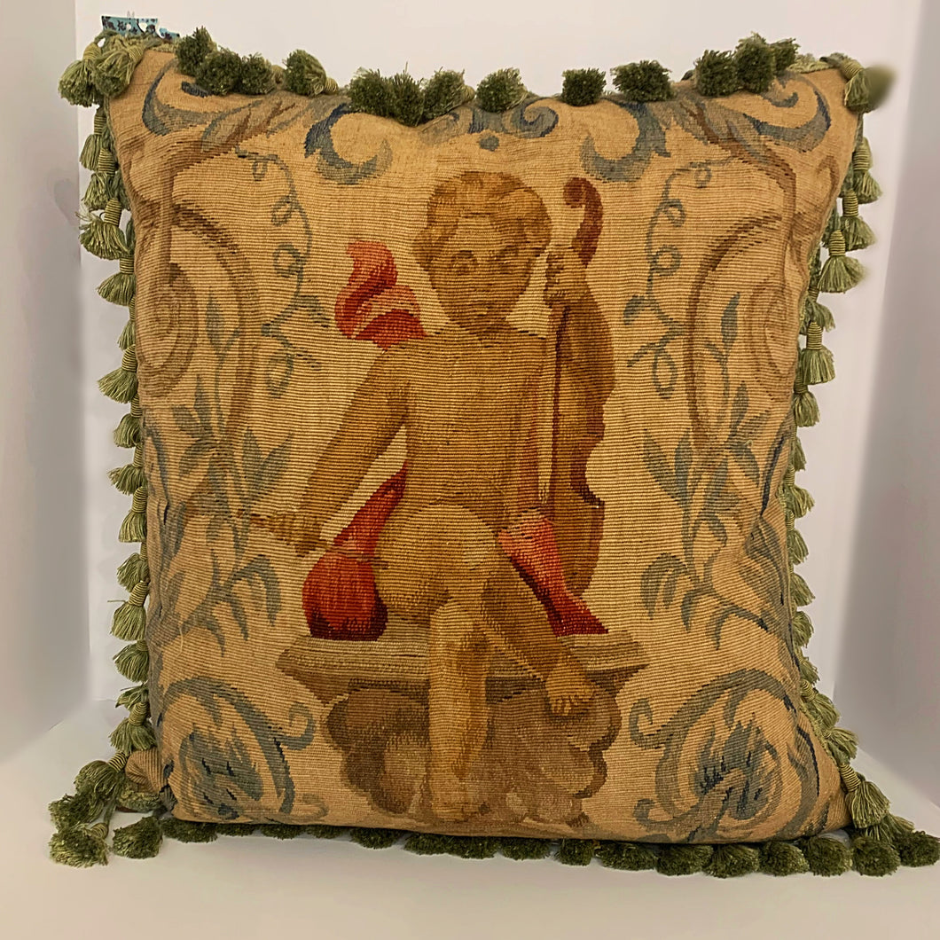 Old World Angel Pillow