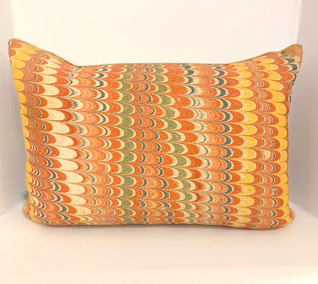 Feathered Multi-color Pillow