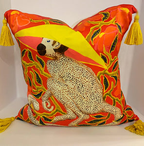 Funny Monkey Silk Pillow