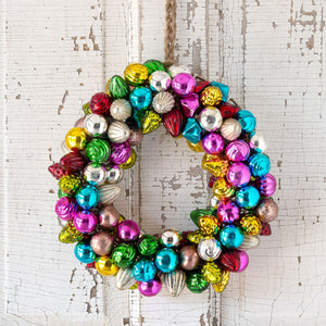Vintage Multi Color Glass Ball Wreath