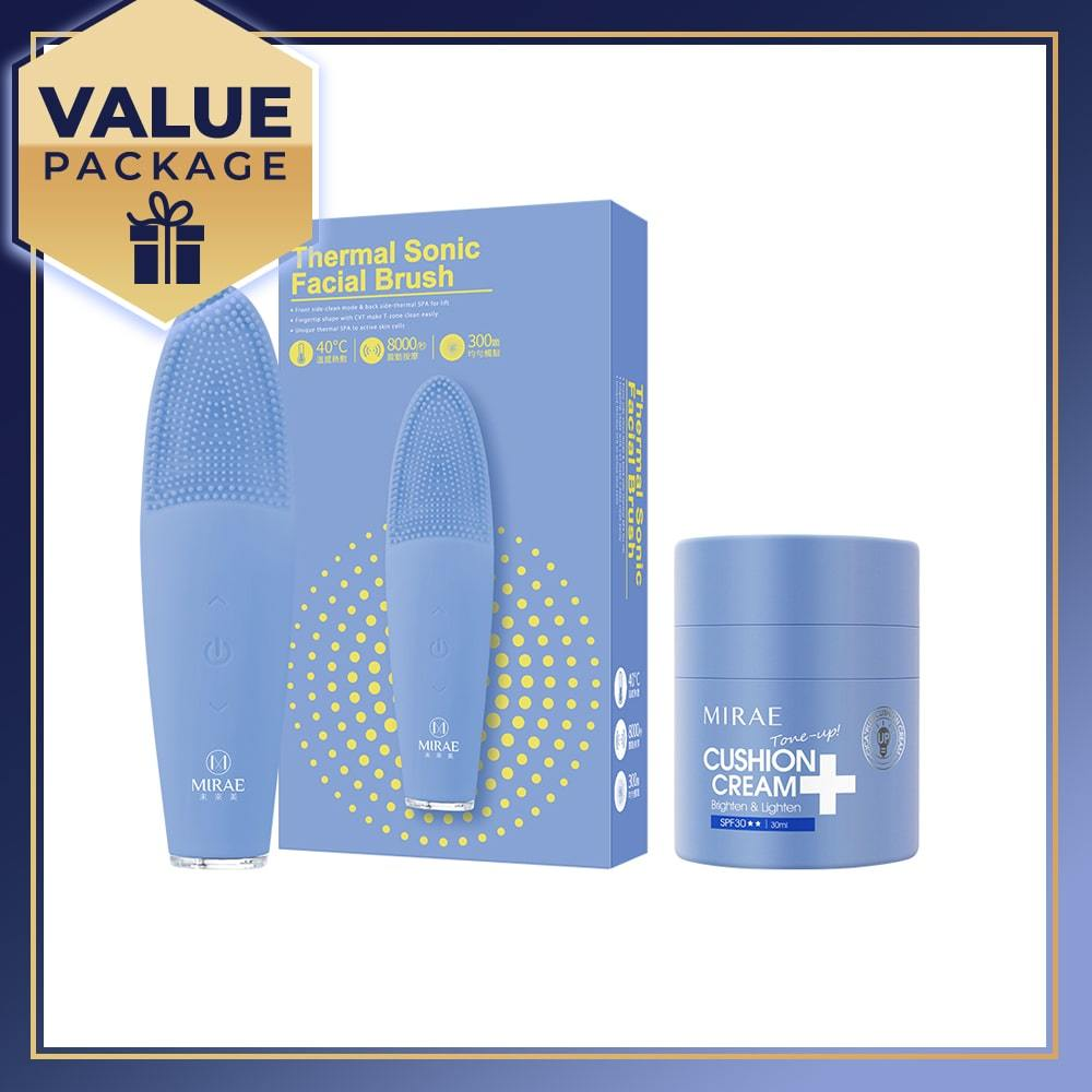 MIRAE Thermal Sonic Facial Brush + CICA+ Plus Cushion Cream 30ml - mirae-beauty-8-malaysia