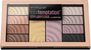 Maybelline New York Total Temptation Eye Shadow Palette, 12 gm