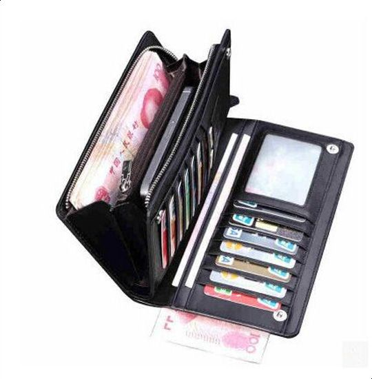 Curewe Kerien Card & ID Case Wallet for Men and Women Black Color