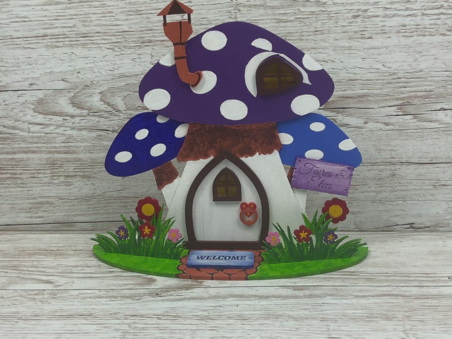 Pointed Fairy Door Freestanding Toadstool Fairy House Fairy Garden Kit