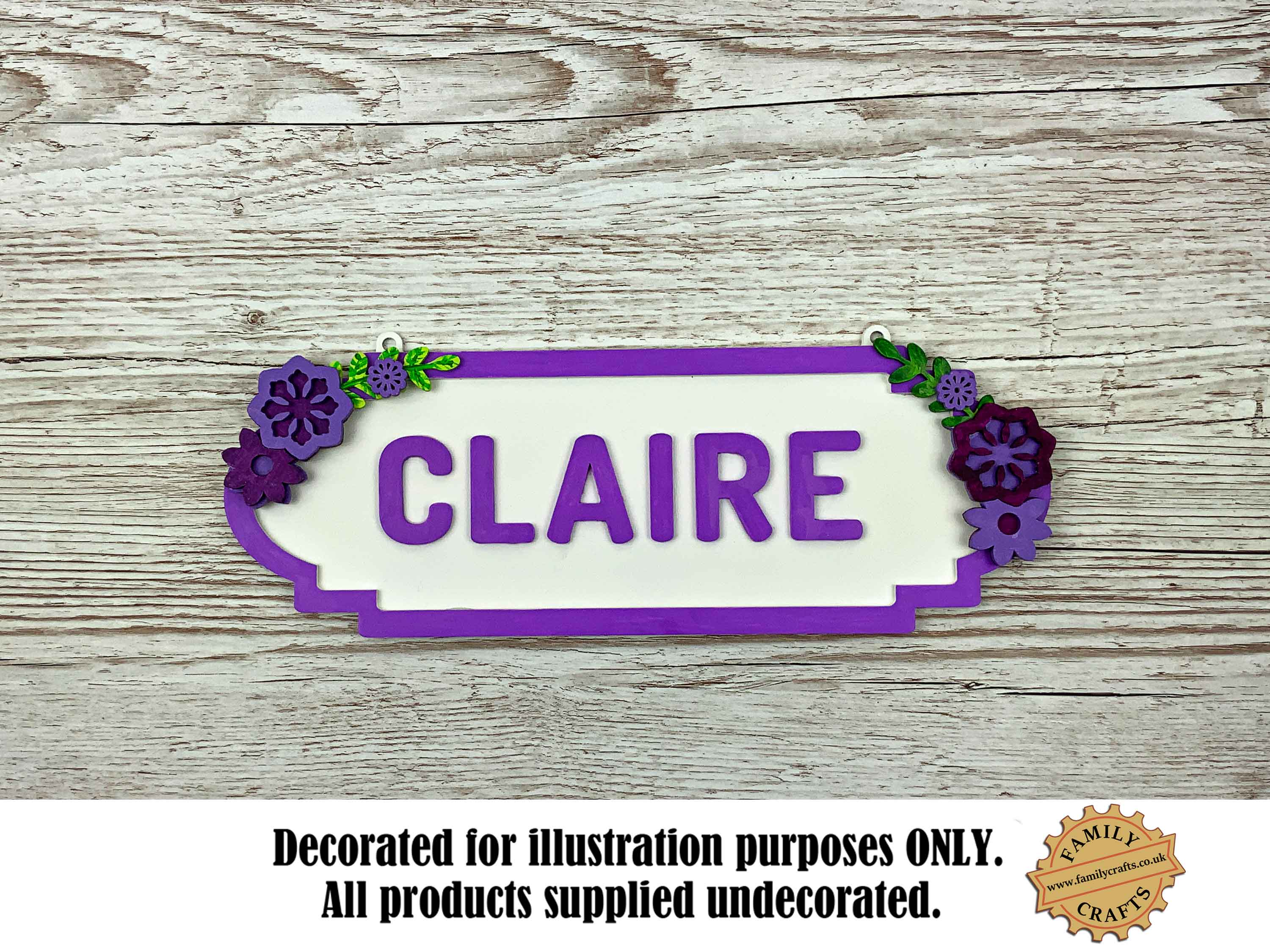 Floral Themed Personalised Name Sign