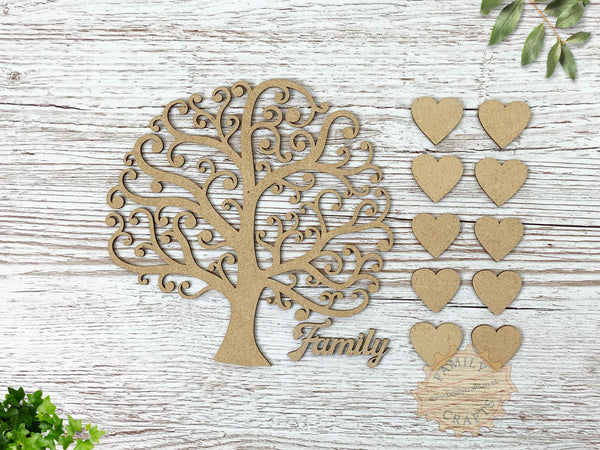curly branch family tree parts
