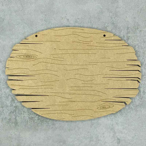 driftwood oval blank with wood grain effect