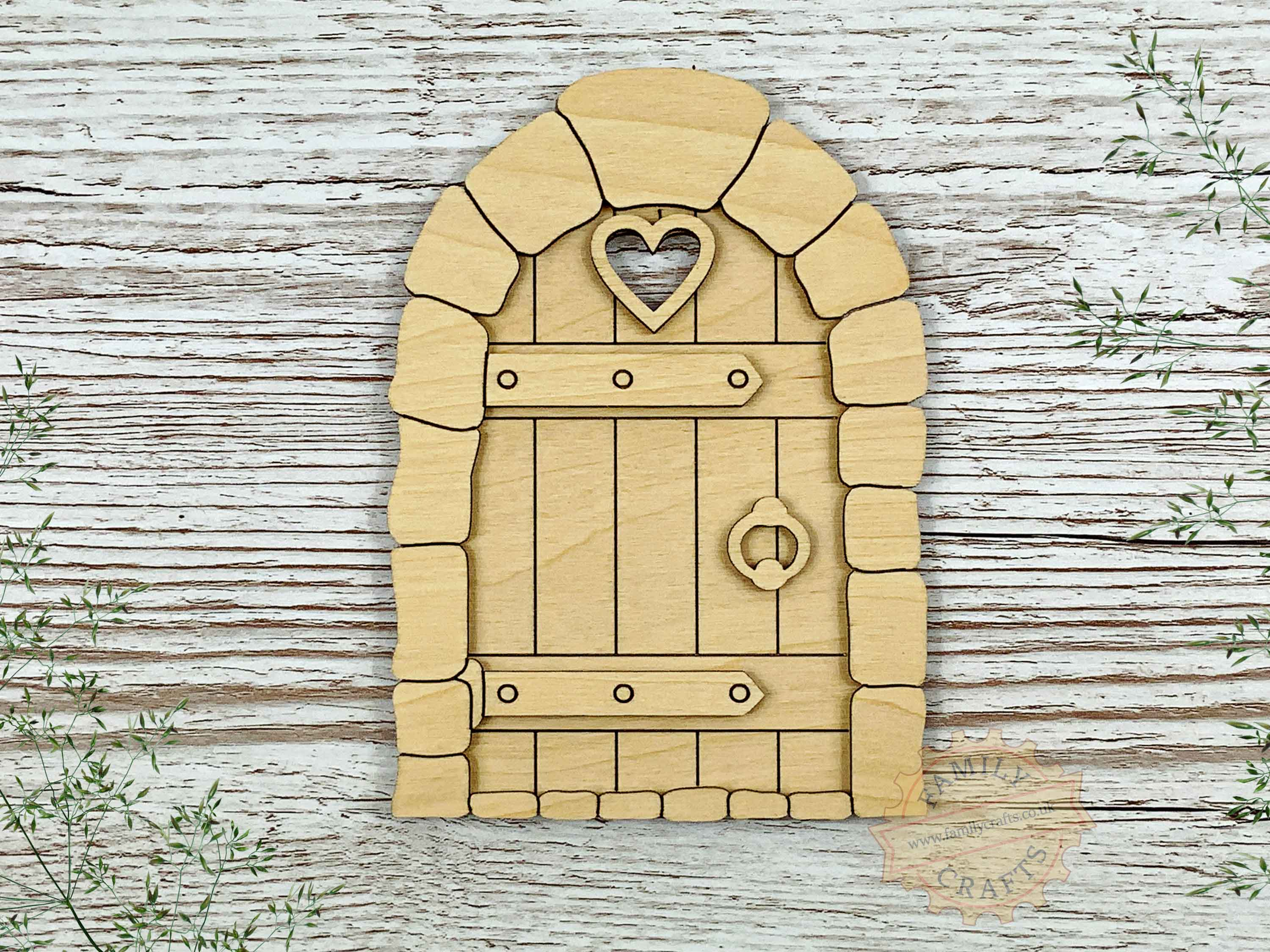 plywood cobblestone fairy door kit