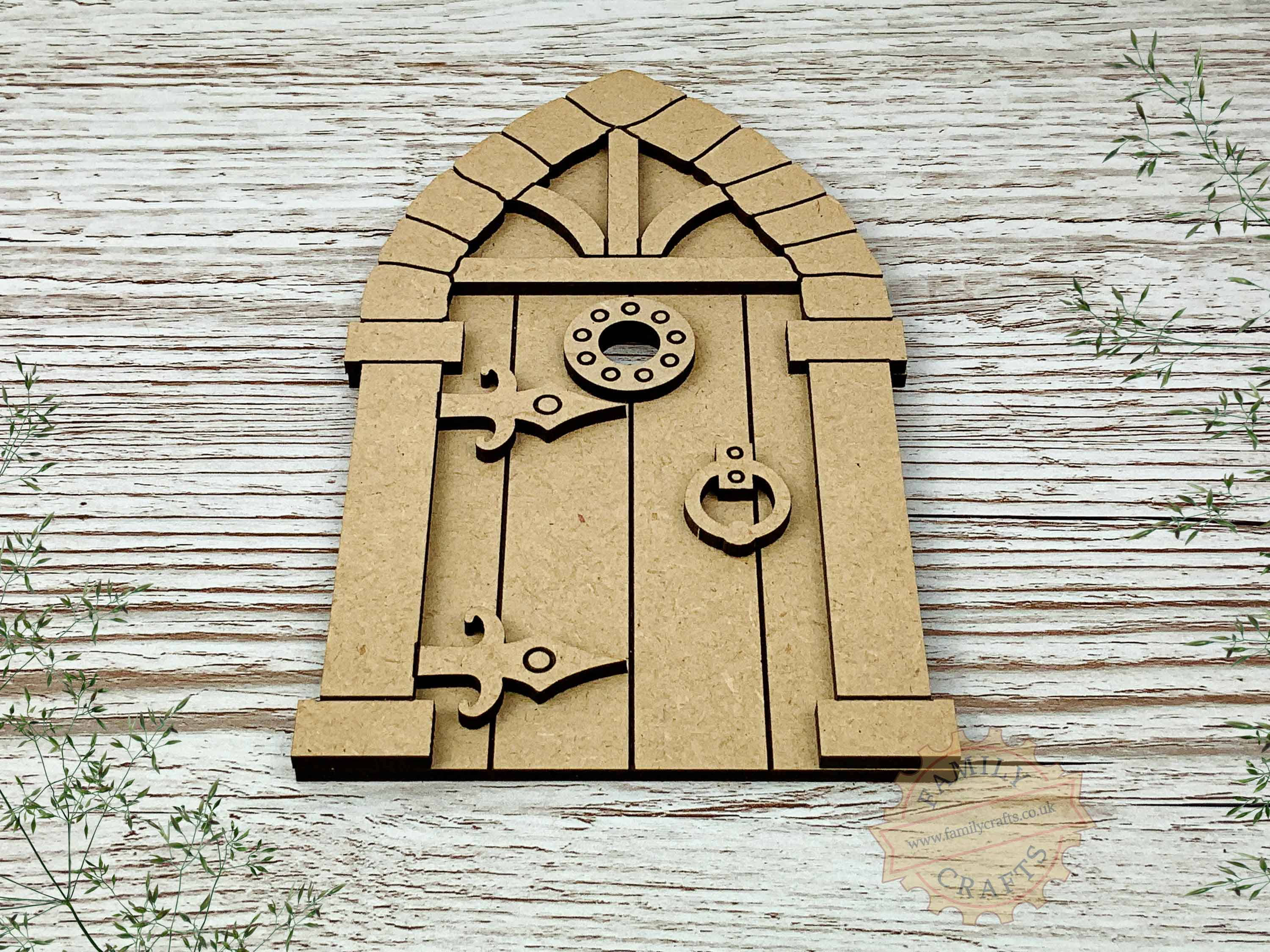 medieval fairy door kit mdf view front