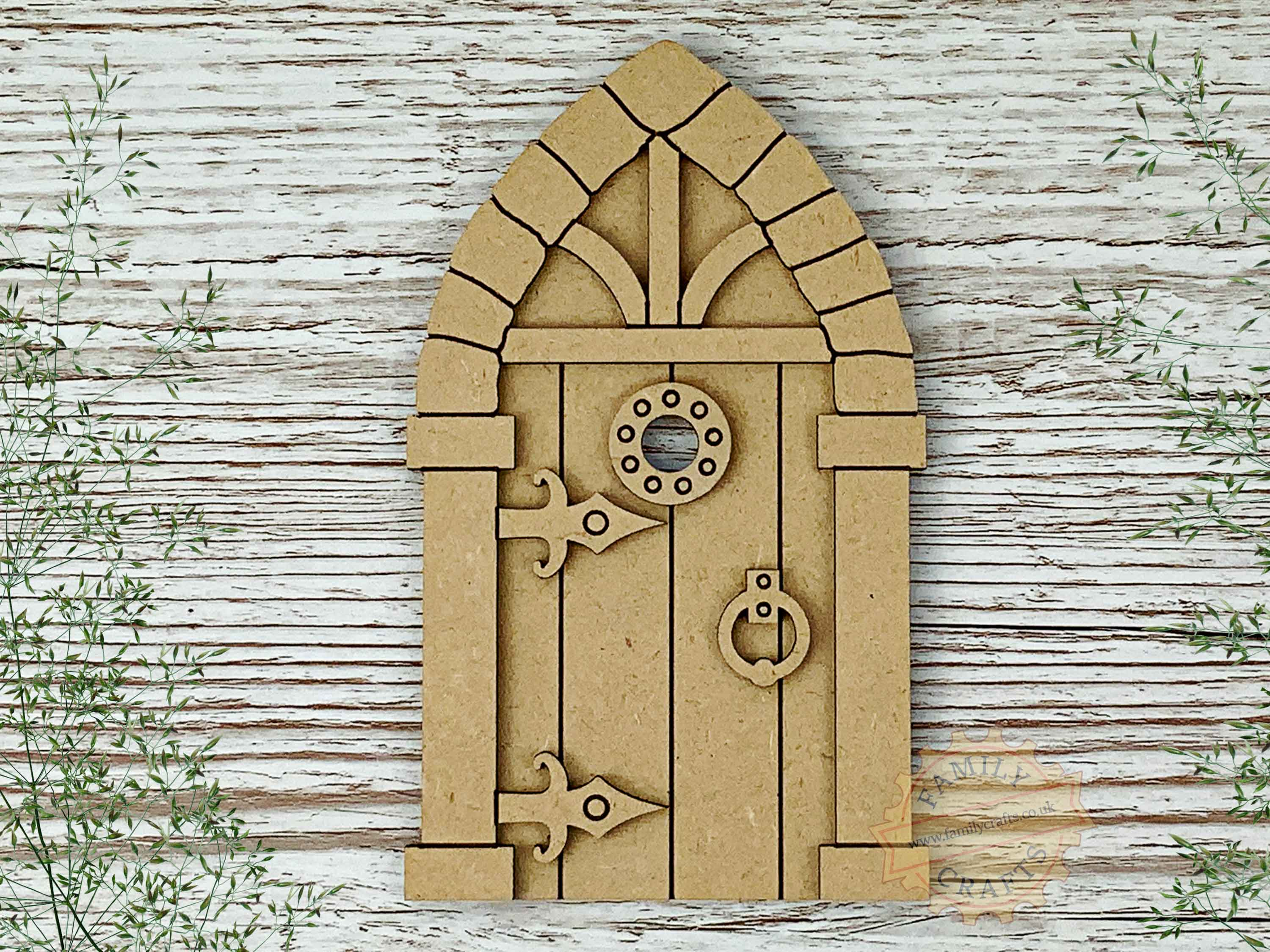 medieval fairy door kit mdf view top