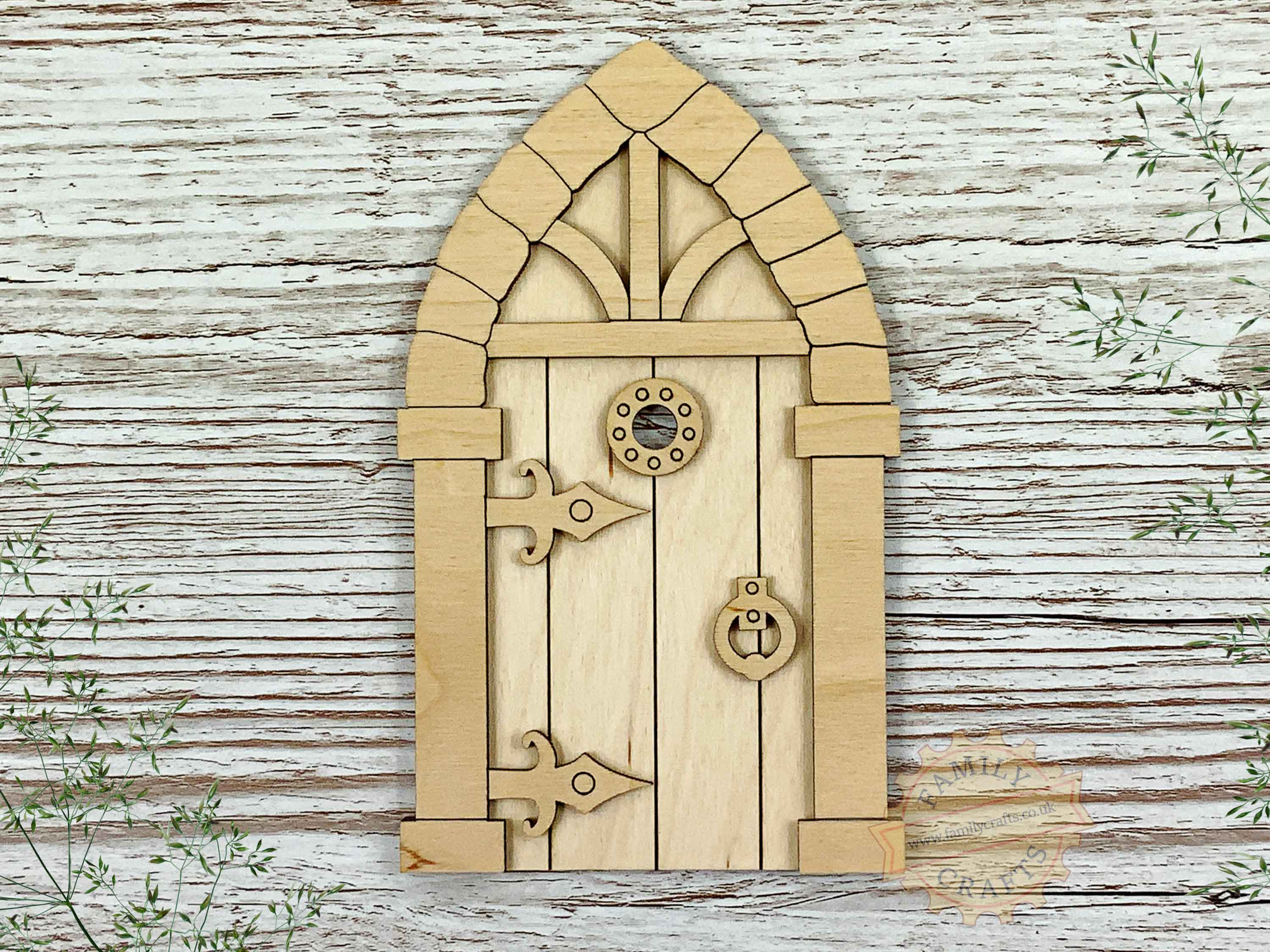 plywood medieval fairy door kit