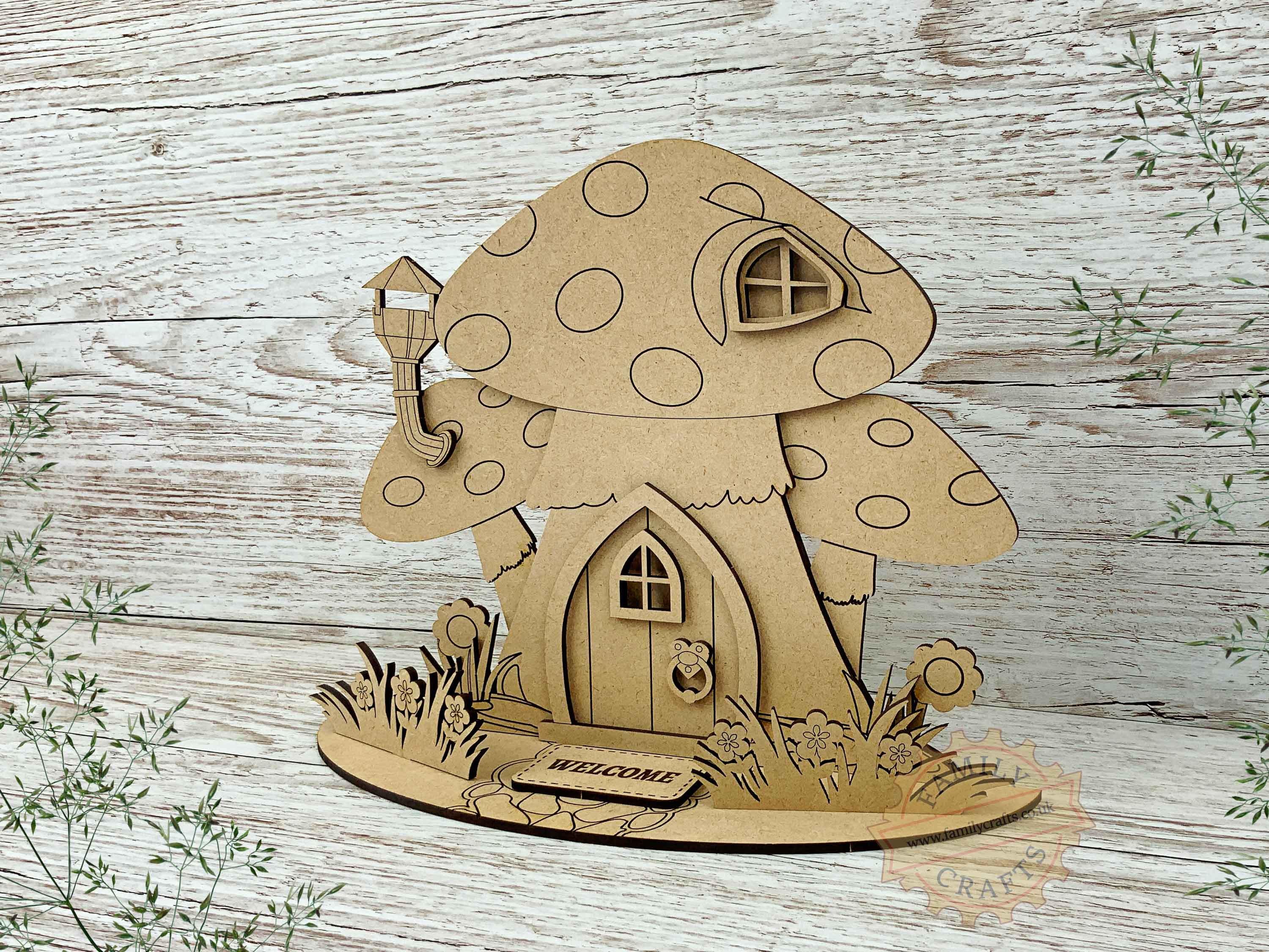 mushroom fairy house garden view right