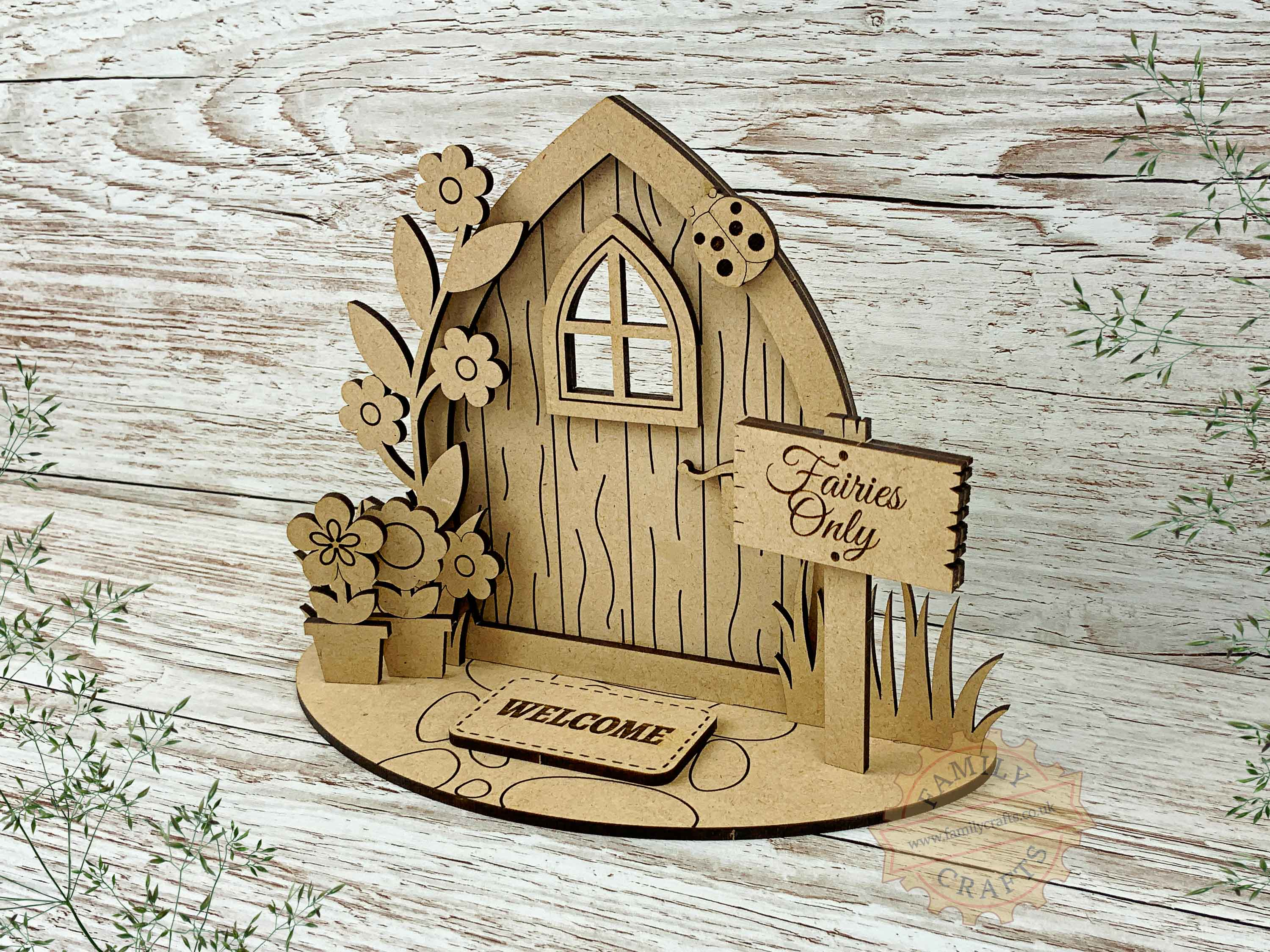 pointed fairy door garden kit view right