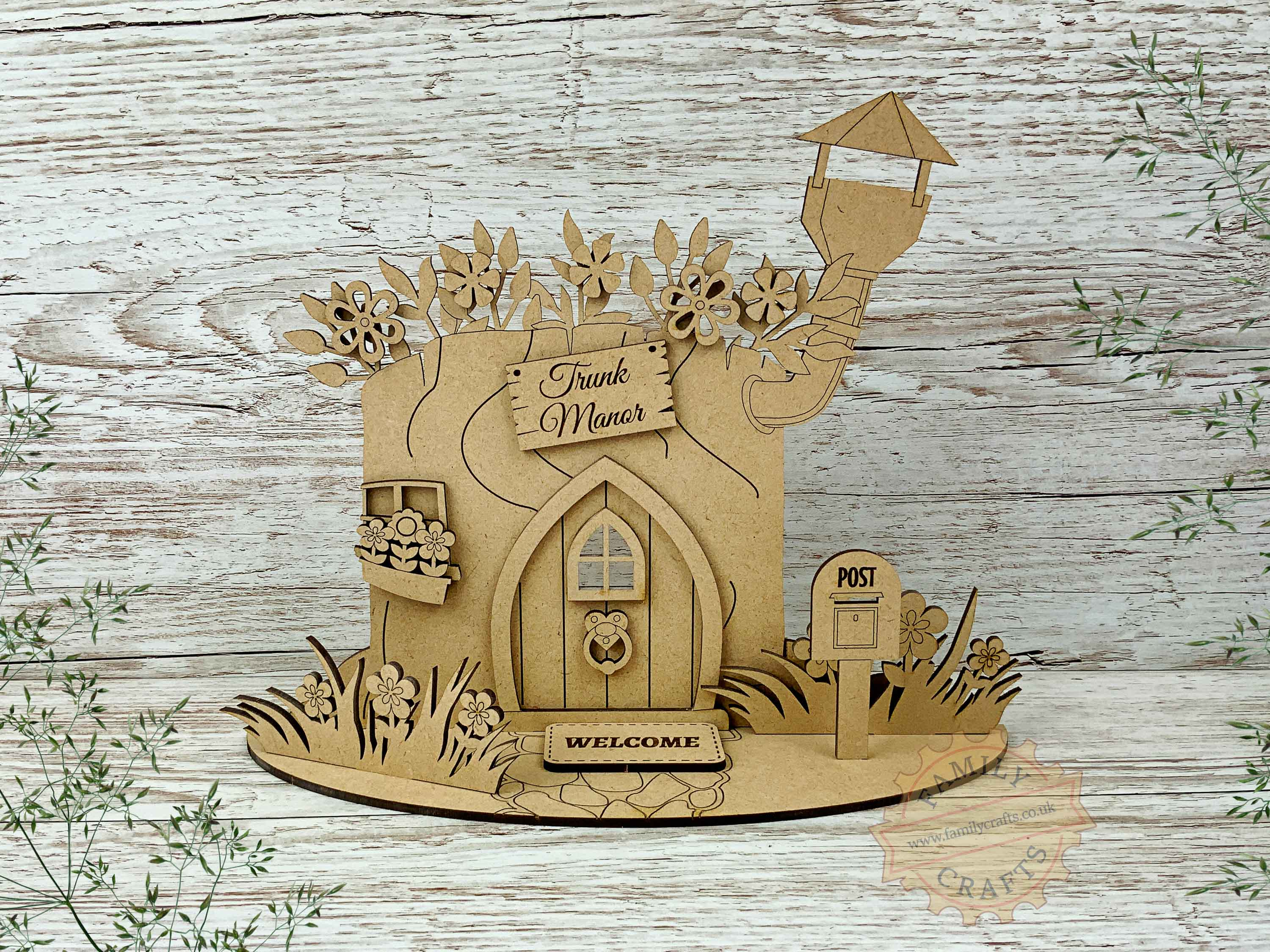 tree stump fairy house garden kit