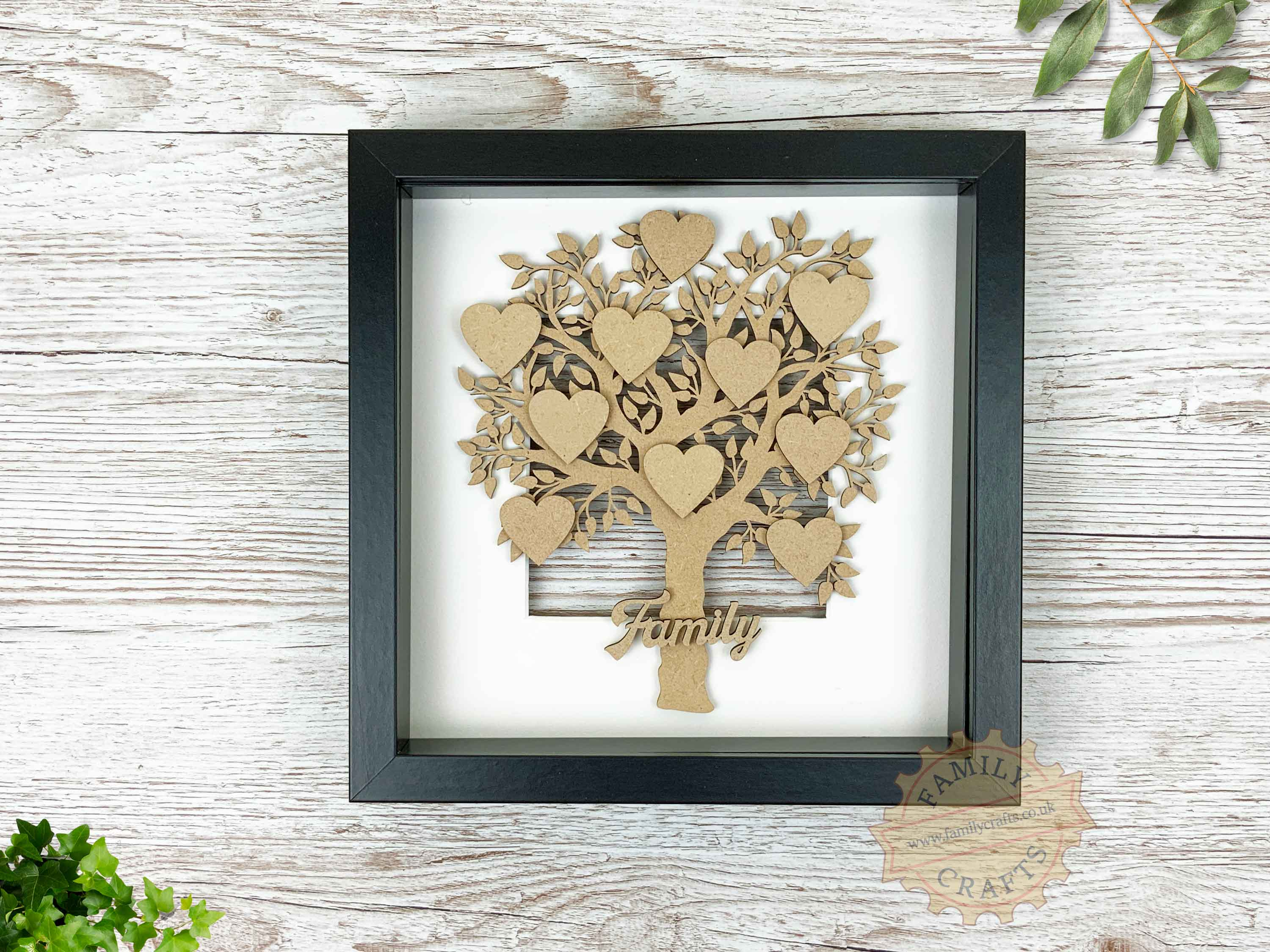 family tree in box frame
