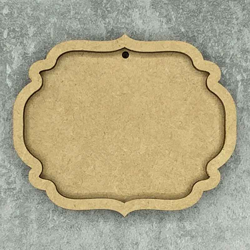 Ornate Oval Framed Blank Style B 1 Hole