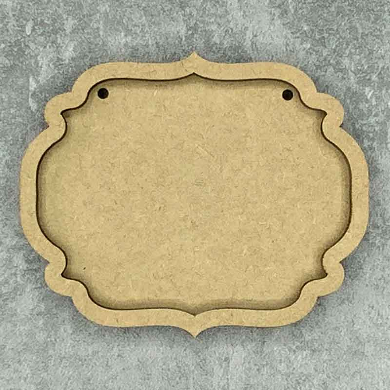 Ornate Oval Framed Blank Style B 2 Holes
