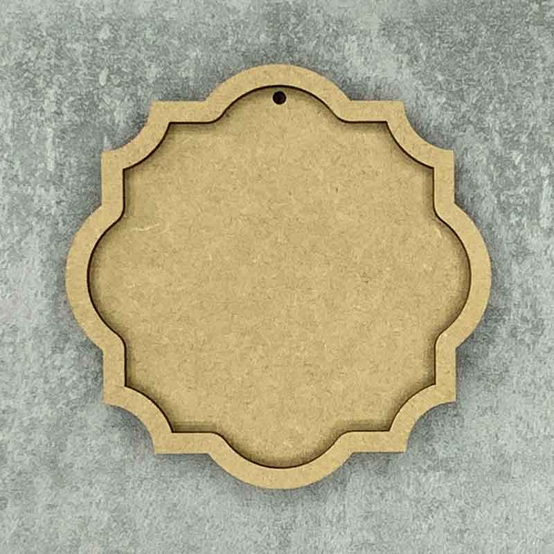 Ornate Round Framed Blank Style B 1 Hole