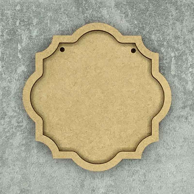 Ornate Round Framed Blank Style B 2 Hole
