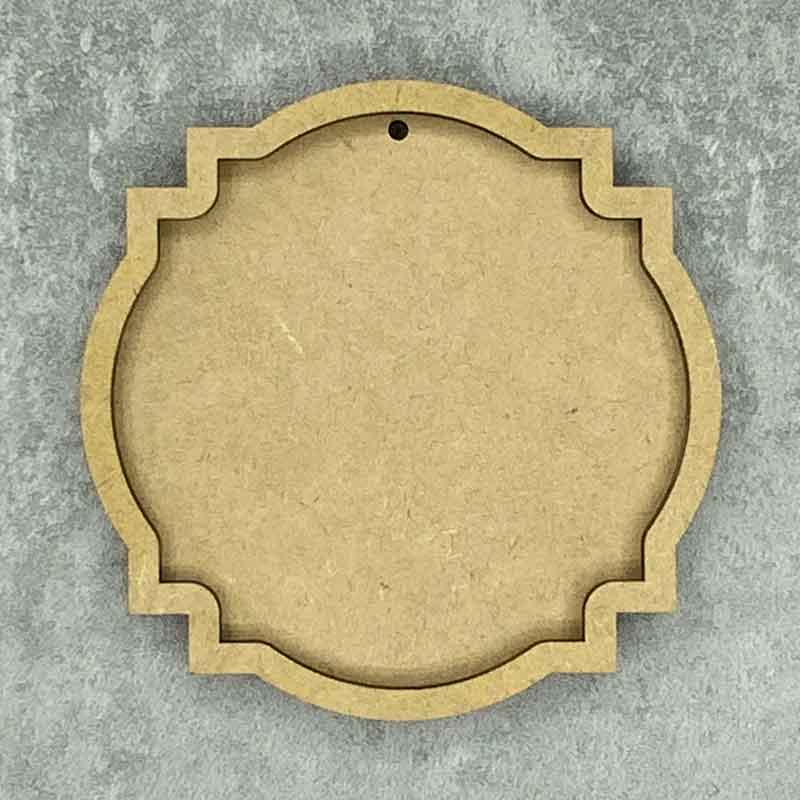 Ornate Round Shaped Framed Blank Style C 1 Hole