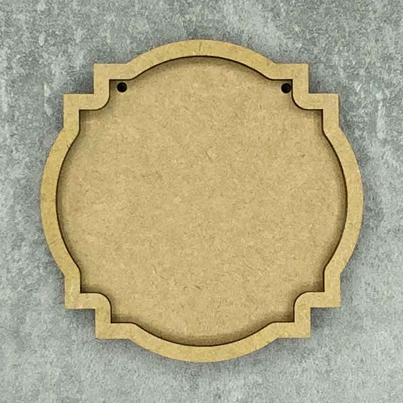 Ornate Round Shaped Framed Blank Style C 2 Holes