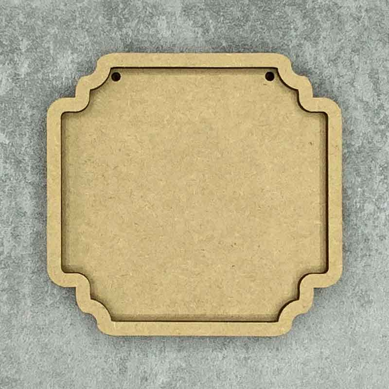 Ornate Square Framed Blank Style C 2 Holes