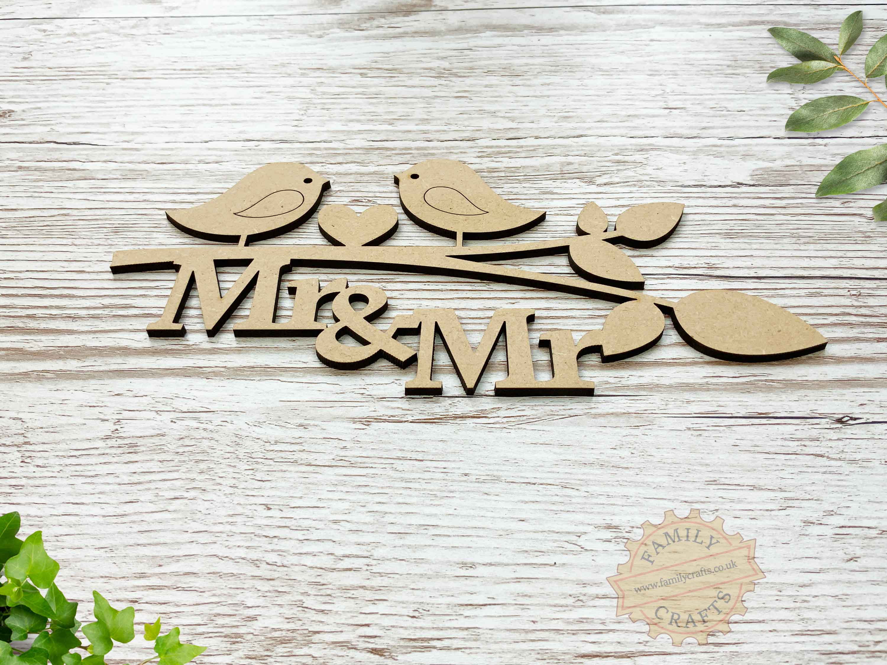 mr and mr love birds branch view front