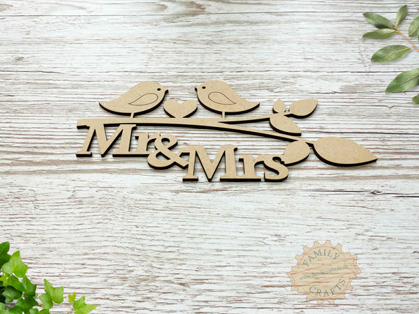 mr and mrs love birds branch view front