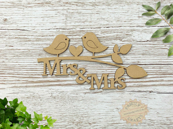 mrs and mrs love birds branch