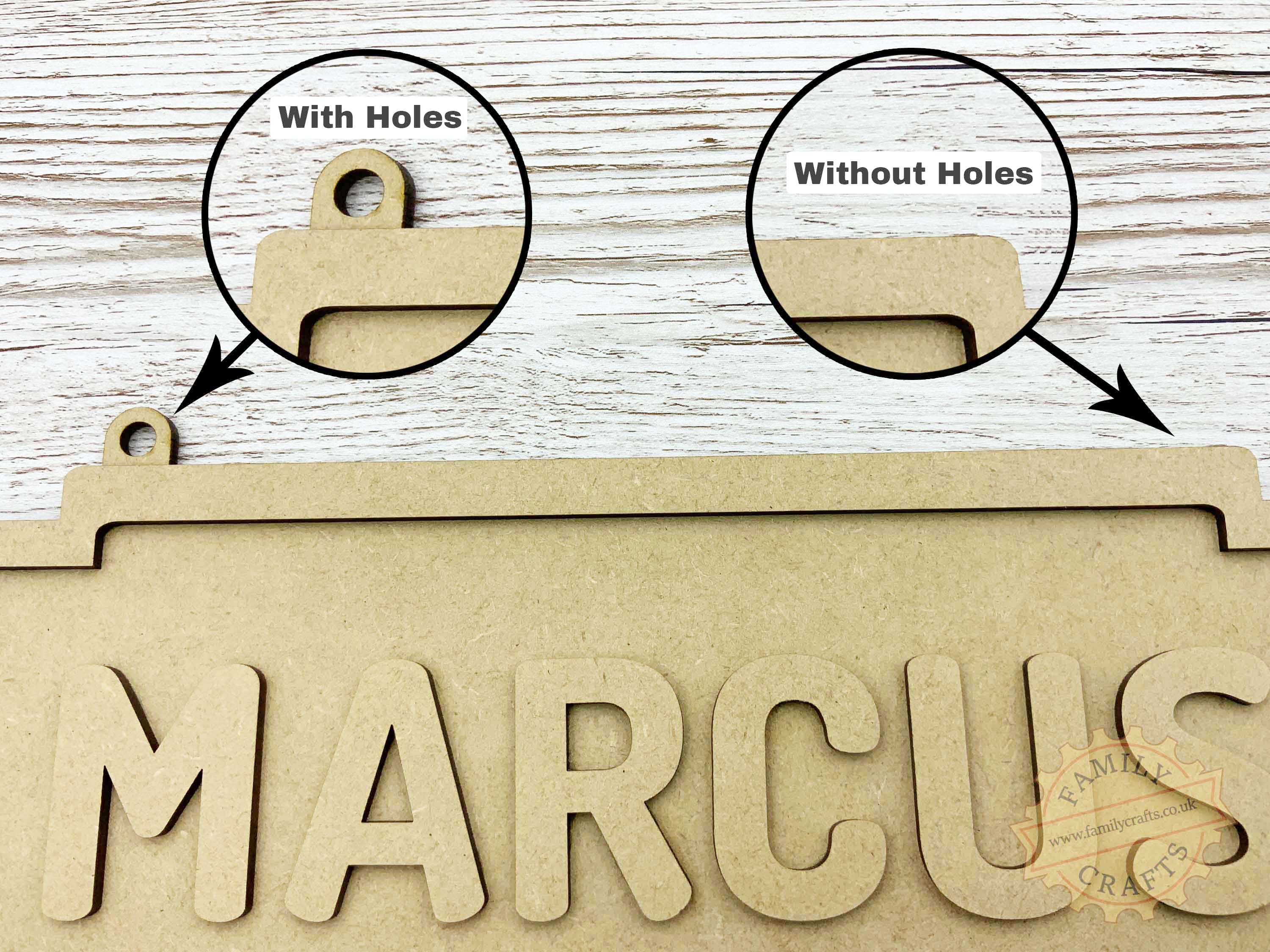 Name Sign with or without holes