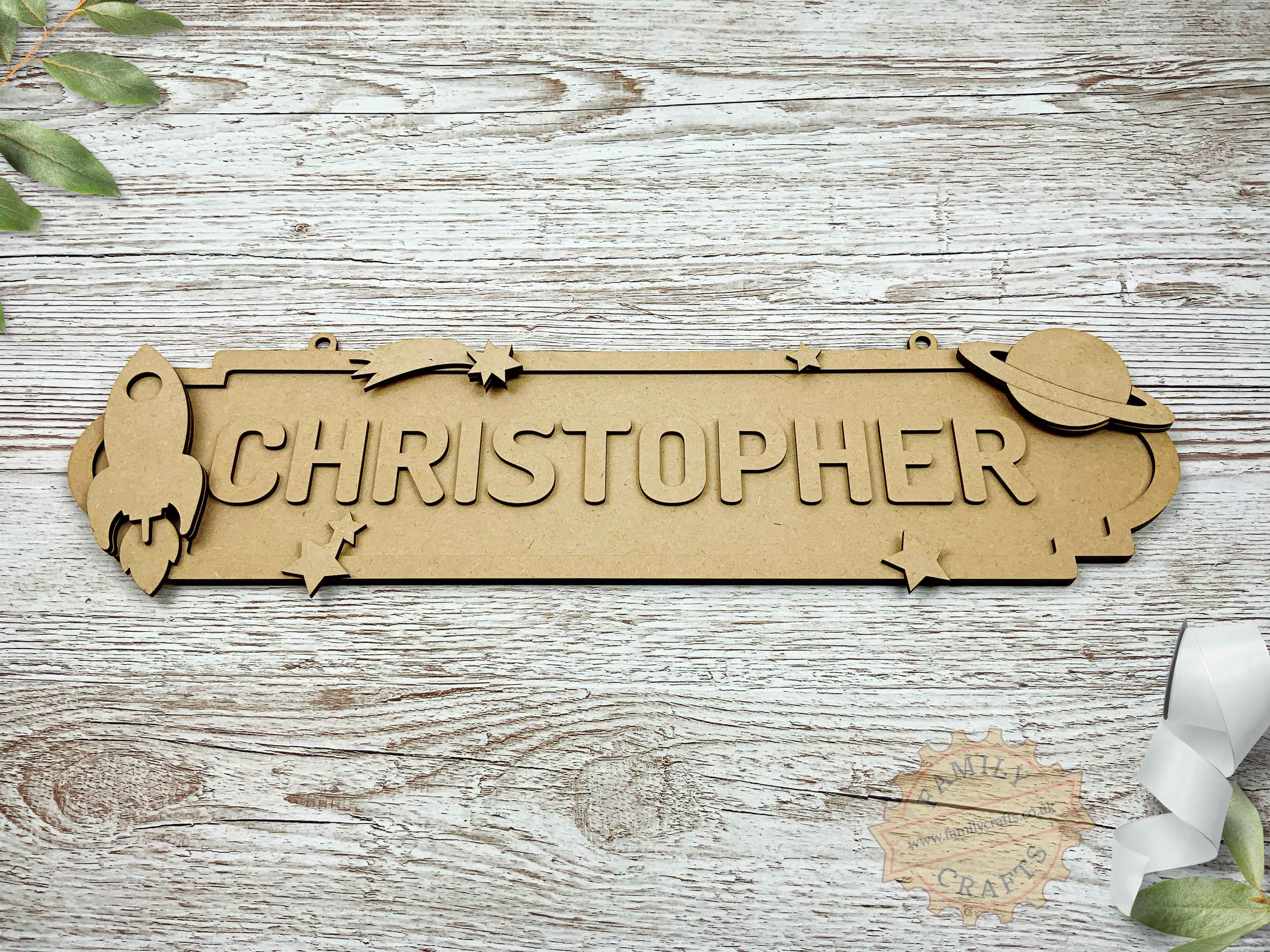 Outer Space Themed Name Sign 12 Characters