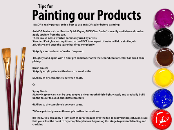 Painting instructions