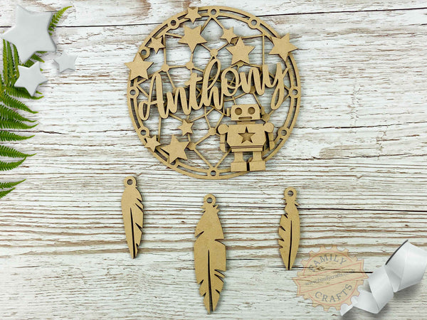 Robot Themed Kids Bedroom Dream Catcher