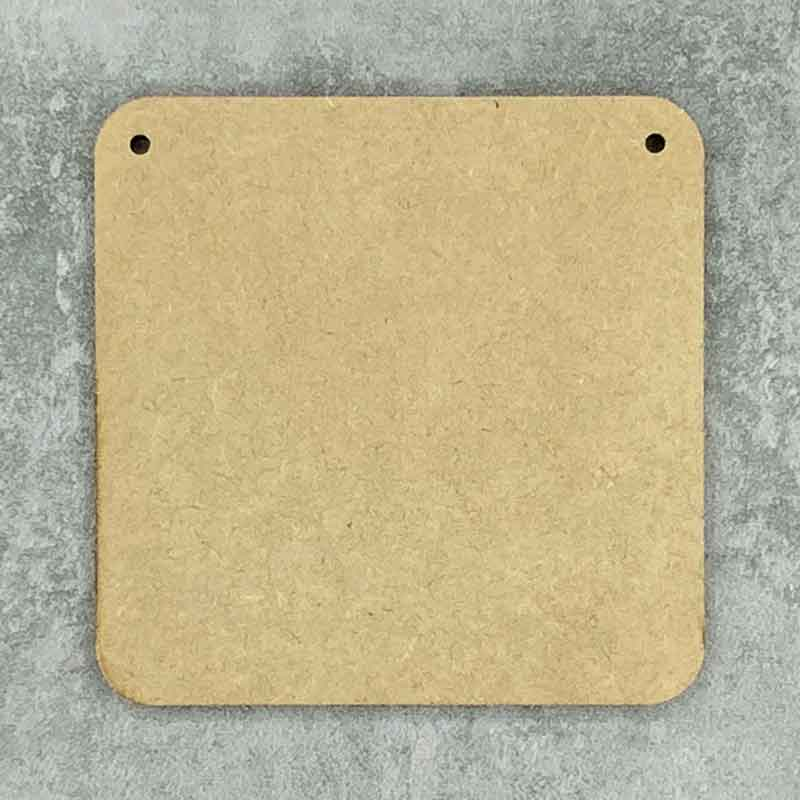 Square Blank Rounded Corners 2 Holes