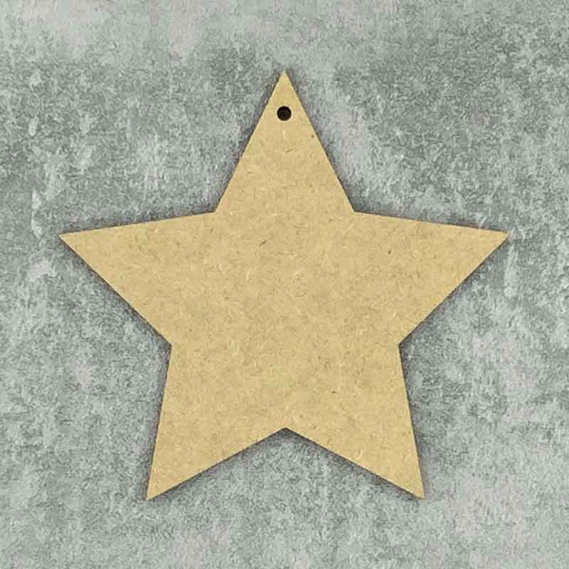 Star Blank Pointed 1 Hole