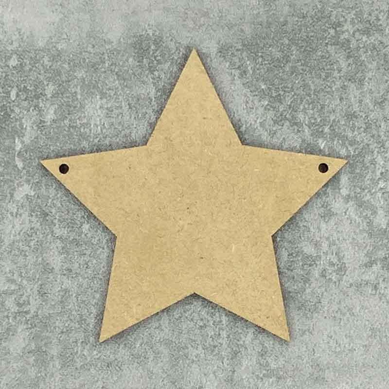 Star Blank Pointed 2 Holes