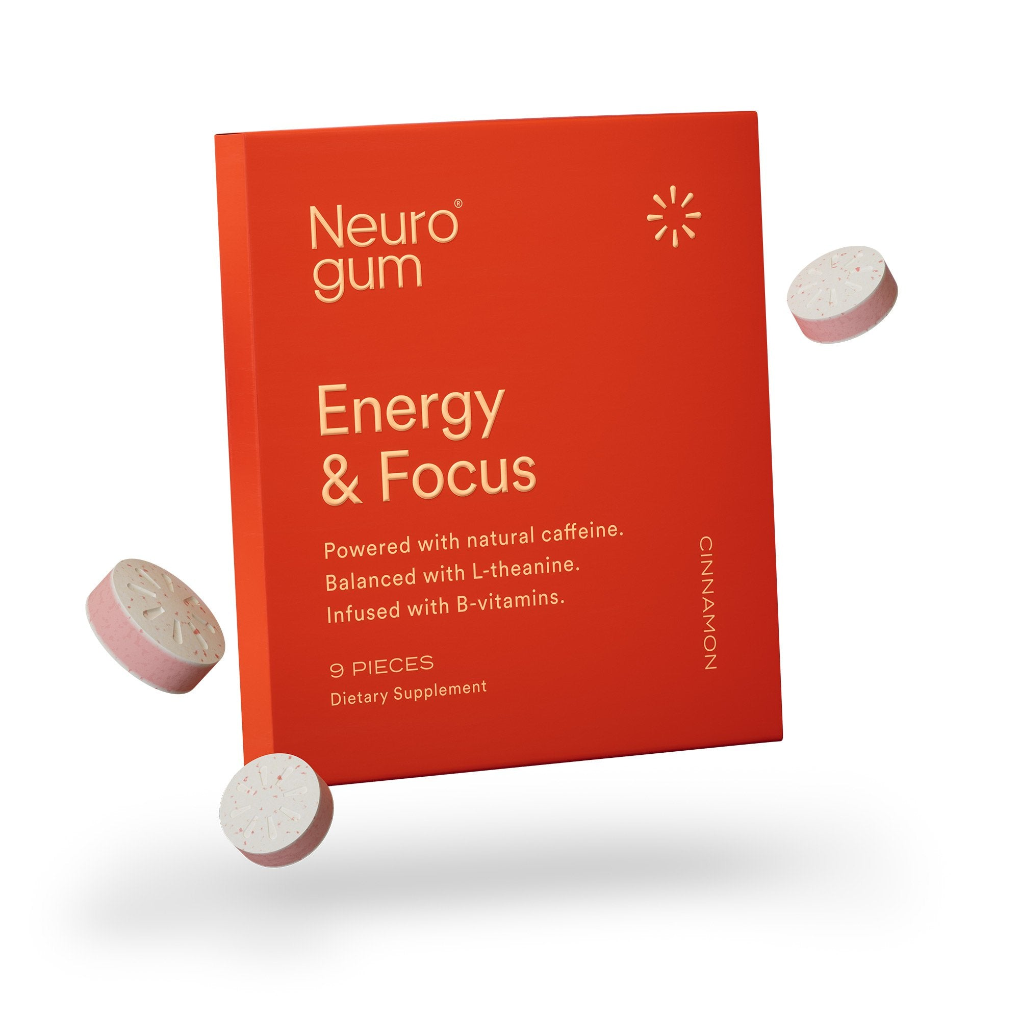 Energy and Focus Gum (Cinnamon)