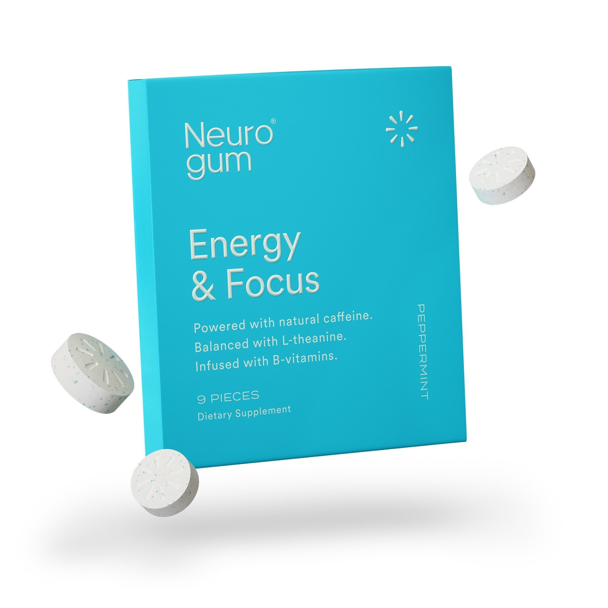 Energy and Focus Gum (Peppermint)