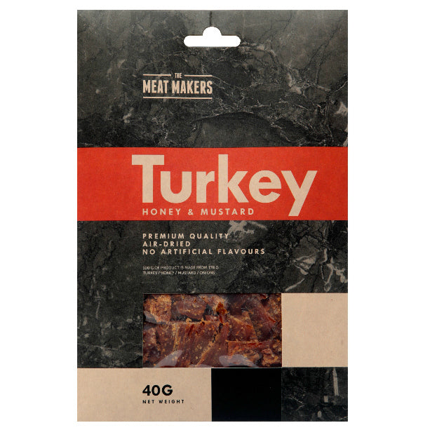 HONEY & MUSTARD DRIED TURKEY 40 G
