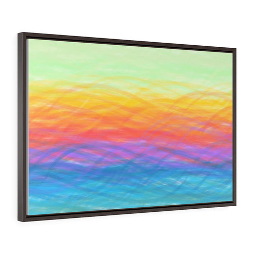 GenArt Turbulent Serenity Horizontal Framed Premium Gallery Wrap Canvas