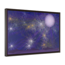 "Load image into Gallery viewer, GenArt ""It's a Blue Starry Night"" Horizontal Framed Premium Gallery Wrap Canvas"