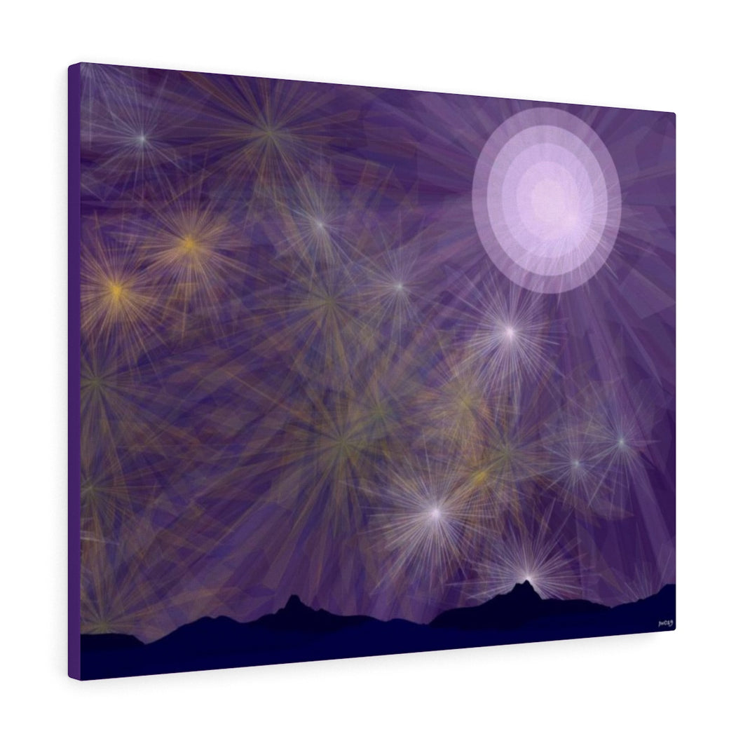 GenArt It's a Purple Starry Night Canvas Gallery Wraps