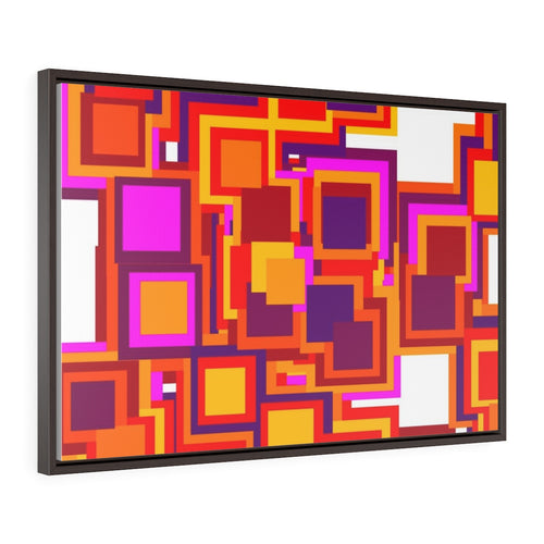 GenArt Mom and Pop Art 3. Horizontal Framed Premium Gallery Wrap Canvas