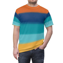 "Load image into Gallery viewer, ""Terran Sunset"" Unisex AOP Cut & Sew Tee"