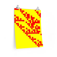 "Load image into Gallery viewer, GenArt ""Red, Yellow, Circles, Squares"" Premium Matte vertical posters"