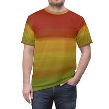 "Load image into Gallery viewer, ""Another Jupiter Sunset"" Unisex AOP Cut & Sew Tee"