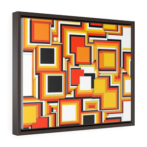 GenArt Mom and Pop Art 2 Horizontal Framed Premium Gallery Wrap Canvas