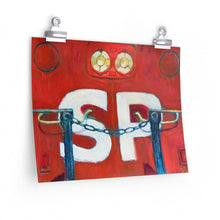 "Load image into Gallery viewer, ""SP Bloody Nose"" Premium Matte horizontal poster of original acrylic painting"