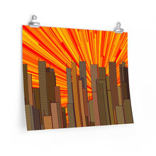Load image into Gallery viewer, GenArt Urban Sunset 1 Premium Matte horizontal posters