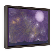 Load image into Gallery viewer, GenArt It's a Purple Starry Night Horizontal Framed Premium Gallery Wrap Canvas